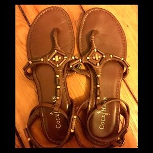 Cole Haan strappy sandal with beading detail
